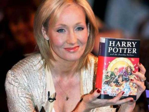 a description of j k rowling as the creator of the harry potter fantasy series